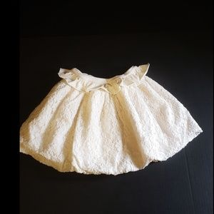 Persnickety Ivory Lace Bubble Skirt size 7